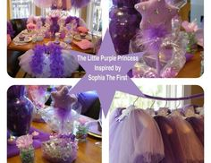 Sophia the First Princess Party Package-The Little Purple Princess from My Princess Party to Go. http://www.myprincesspartytogo.com  #princessbirthdaypartyideas #sophiathefirstparty #princessparty