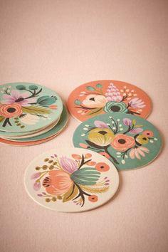 Vintage Bloom Coasters (8)