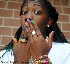 Multicolor Spring mani