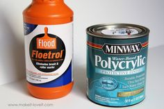 Add floetrol to paint while painting furniture to minimize brush marks.
