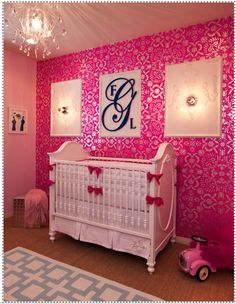 Glam Nursery (Red, pink, black and white )