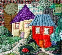 Scene from a village, by Bozena Wojtaszek | The Textile Cuisine (Poland)