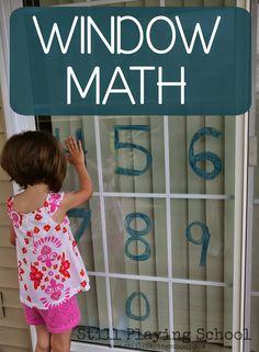 Window Math Gross Motor Game by Still Playing School