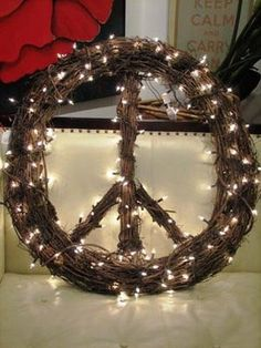 24 inch Grapevine Peace Sign Wreath by TropShop on Etsy, $112.00
