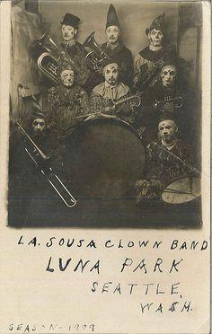 La Sousa Clown Band at Luna Park, 1909 by Seattle Municipal Archives