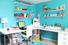 Office/Craftroom-I love the color and the rug.  wish I had an extra room to do that to.