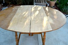 Sweetie Pie Style: Dining Table Before & After: How to Refinish A Wood Table