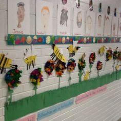 Students made their own honey bee and flower. They learned about pollination!