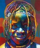 Paintings from Namibia painted by Stephen Bennett the Portraitpainter