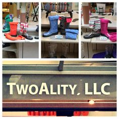 There is a chance for rain everyday until next Thursday!!! Who needs fun, bright, fashionable, American Made rain boots?! Come see us at the Columbia mall to get your pair of #BootsByTwoAlity!! ❤☔⚡#RainStyle #InterchangeableBoots