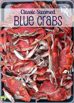 Classic Steamed Blue Crabs | EricasRecipes.com