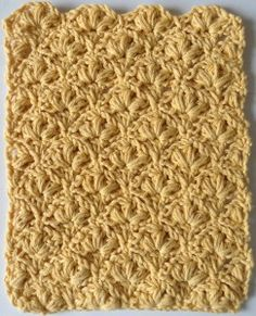 Cluster Bobble Crochet Dishcloth
