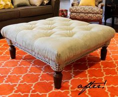 Another coffee table to ottoman tutorial
