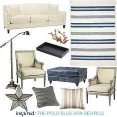 Get inspiration for a nautical themed living room from The Home Depot Blog!