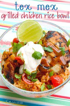 Tex Mex Grilled Chicken Rice Bowl