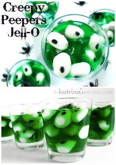 Creepy Peepers Halloween Jello | Recipe via inkatrinaskitchen.com #Pintowingifts