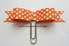 Paper bow with paper clip tutorial by Sharon Burkert, As The Ink Dries