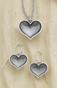 Heart of Promise Pendant and Ear Hooks from James Avery Jewelry.