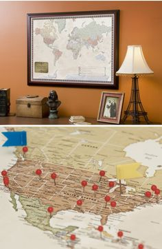 daili grommet, special interest, travel maps, gifts, travel frame, interest map, person travel, gift idea, frame map