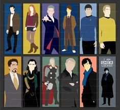 Doctor Who - BBC Sherlock - Loki - Tony Stark - Thor - Star Trek - bookmark - CHOOSE DESIGN