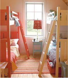 Kids' cottage bedroom.