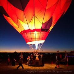 Glow all night //  Albuquerque International Balloon Fiesta 2012 #mobilephotography #balloonfiesta