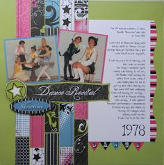 Moxxie scrapbook paper used for my dance photos.