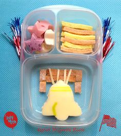 Let Freedom Ring! Independence Day Bento Lunch. // Gluten  Nut Free, Fourth 4th of July