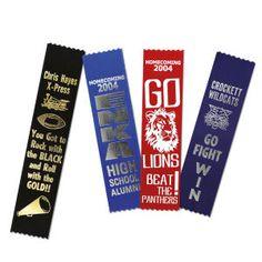 Spirit Ribbons for Homecoming from http://www.schoolspiritstore.com/