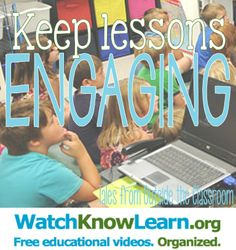 Keep your lessons engaging with this free video minilesson website!