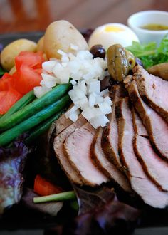 Sirloin Salade Nicoise. This recipe is for leftover steak and any leftover veggies. #smarterbeef