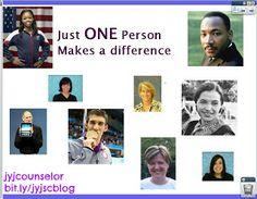 "jyjoyner counselor: ""One"" Lesson & bulletin board"