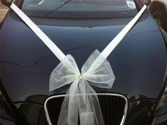 Wedding CAR Ribbon KIT 6M Ribbon Choice OF 1 3 OR 5 Organza Bows | eBay