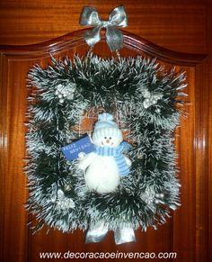 * Decoração e Invenção *: #SEGUNDA NATALINA - Minha Guirlanda Quadrada - PAP