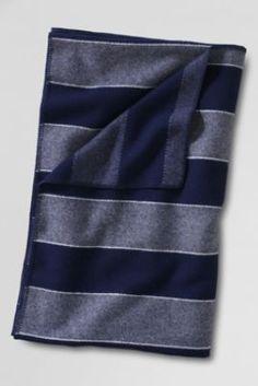 Pendleton Stripe Heather Wool Blanket from Lands' End