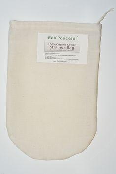 100% All Organic Cotton Nut Milk Bag
