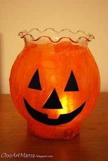 Easy Pumpkin Luminaries from One Artsy Mama