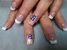 American Flag by aliciarock from Nail Art Gallery