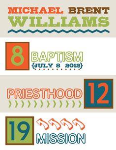 LDS Boy Wall Art. Great for baptism or shower gift.    #LDSartwork #DailyLDS