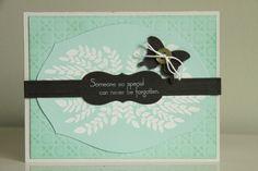 Beautiful sympathy card by Erin.