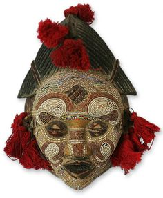 """""""River Goddess"""" a divine inhabitant of Zairian waters. Congo, made by Salihu Ibraham. The Pende people live on the banks of the Kasai River in Zaire. yearly rituals are done to show appreciation to the spirits that inhabit the waters and thank them for their protection and longevity."""