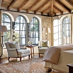 great windows and ceiling