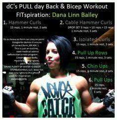 Back n bicep workout