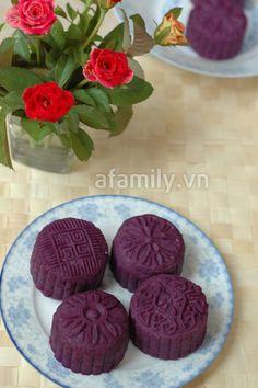 Bánh trung thu từ khoai lang tím