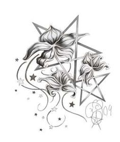 Wiccan Flowers Tattoo...really like this...