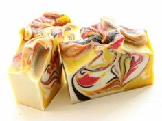 Cold Process - Monkey Chunk Soap, Part 2, Cutting (Pretty soap. - Deb)