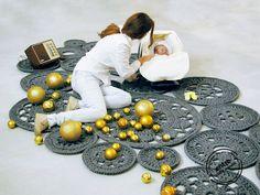 big scale handmade MODULAR crochet rug ENTRE por ENTREDESIGN, €1239.06