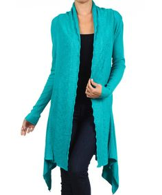 Another great find on #zulily! Turquoise Sidetail Cardigan #zulilyfinds