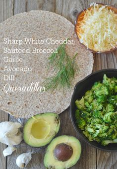 Broccoli Quesadilla with Avocado, Garlic and Dill | mountainmamacooks.com #eatseasonal