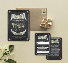 Rustic Elegant Wedding Invitation from Wedding Paper Divas